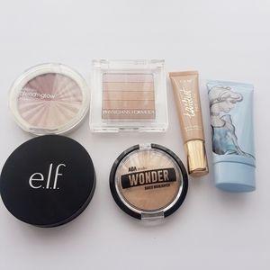 Highlights lot makeup 6 pieces set powder& Liquid